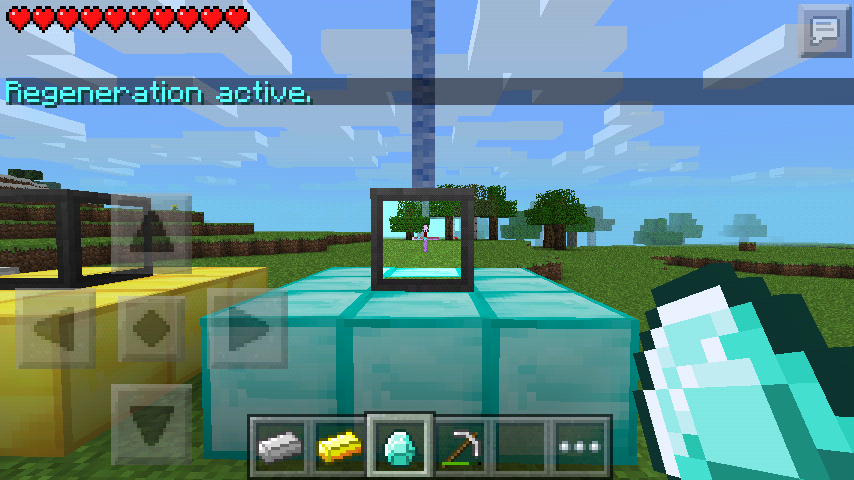 How do you use a beacon in minecraft pe