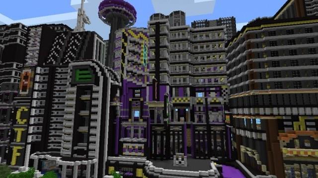 Futuristic City Minecraft PE Maps - Die besten maps fur minecraft pe