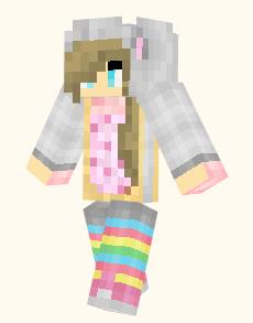 Full List Of Minecraft PE Girl Skins Archive - Skins para minecraft pe cat