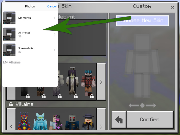 How To Install Minecraft PE Skins For IOS MCPE DL - Minecraft skins fur iphone