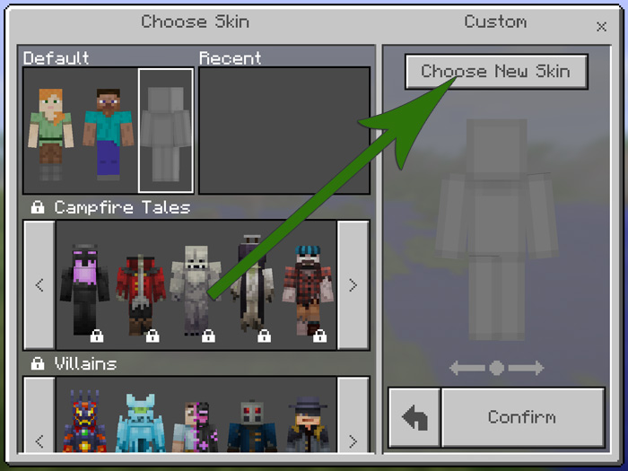 How To Install Minecraft PE Skins For IOS MCPE DL - Baixar skins para minecraft de pc