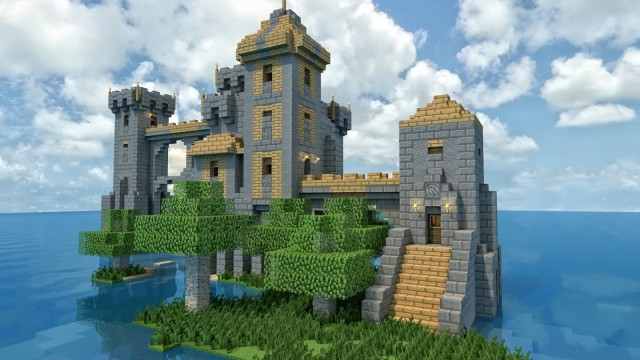 A Smaller Castle Isolated Far Out On The Sea Really Nice Keep Which Can For Example Be Used To Build Larger City Map In