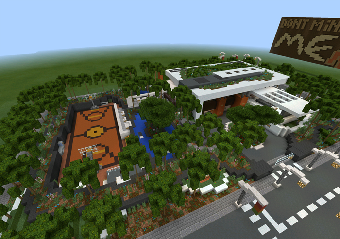 Modern Village Creation Minecraft PE Maps