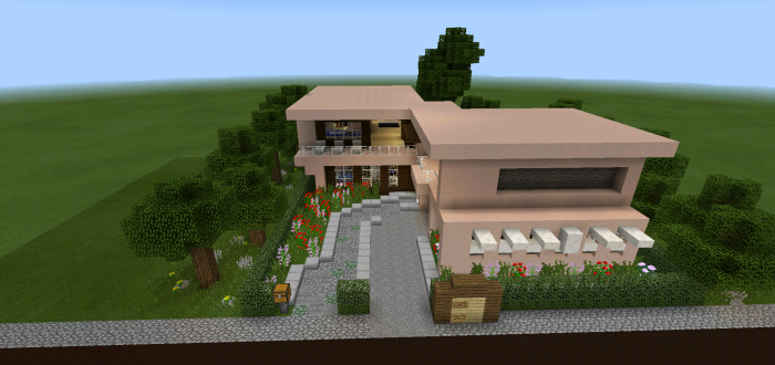 Modern House Series Creation Minecraft PE Maps