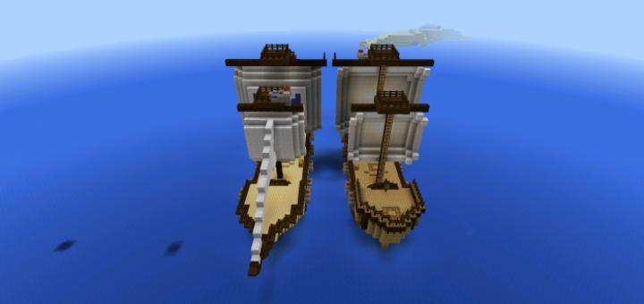 как сделать корабль в майнкрафте в версии 0.14.0 #6