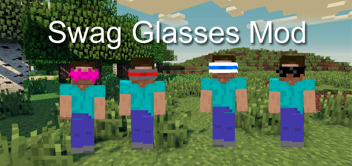 Swag Glasses Mod Minecraft PE Mods Addons - Skins para minecraft pe swag