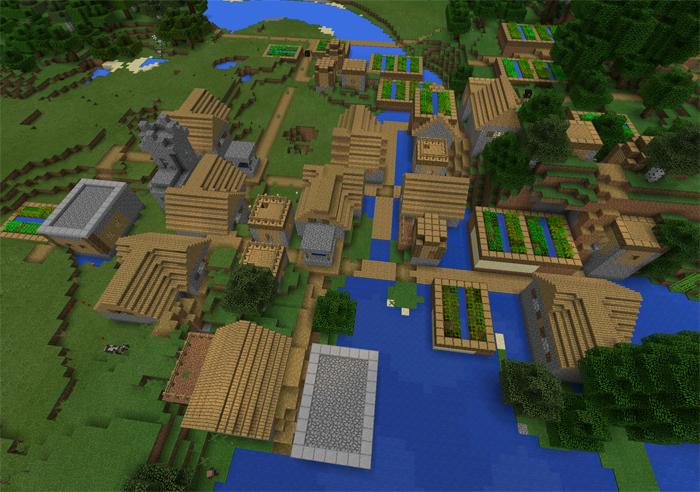 сиды для майнкрафт 1.8 с деревней #10