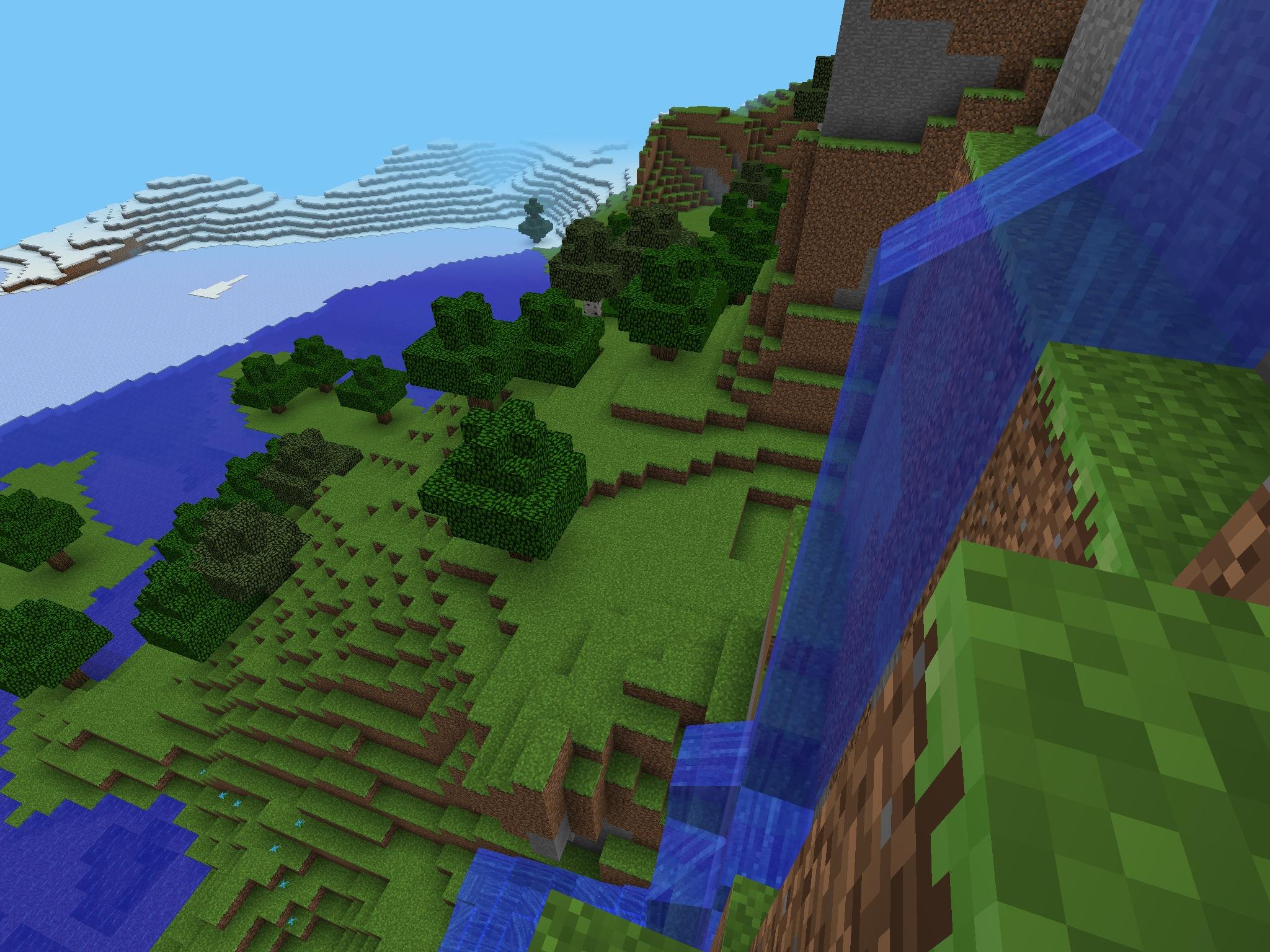 ayay: Beautiful Waterfall | Minecraft PE Seeds