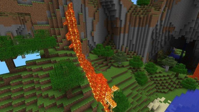 how to stop lava flow in minecraft pe