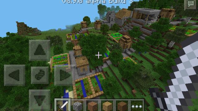 bluehead spawn in a village minecraft pe seeds