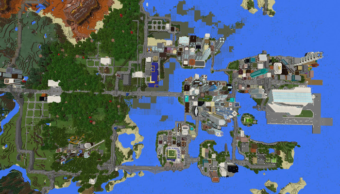 Mine york city creation survival minecraft pe maps features gumiabroncs Gallery