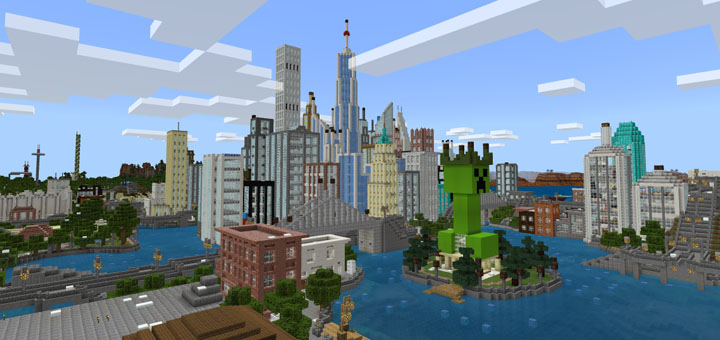 minecraft city survival map