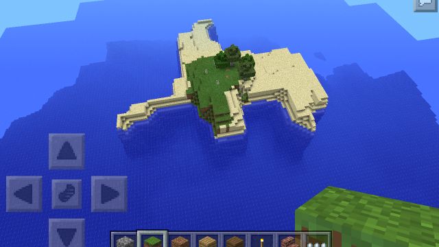 Acecraftnoob compact survival island minecraft pe seeds for Explore craft survival pe