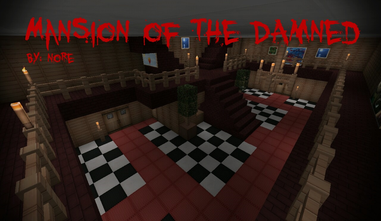 Mansion Of The Damned Adventure Horror Warning Minecraft PE Maps - Horror maps fur minecraft