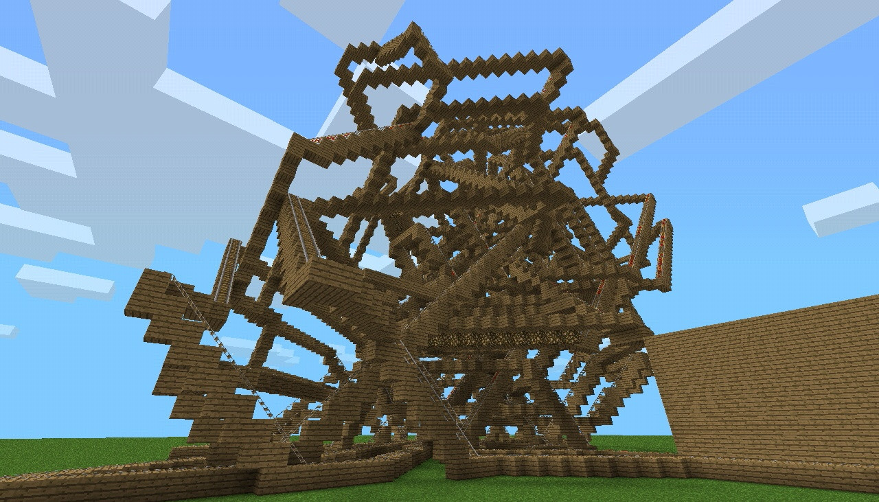 minecraft how to build a roller coaster