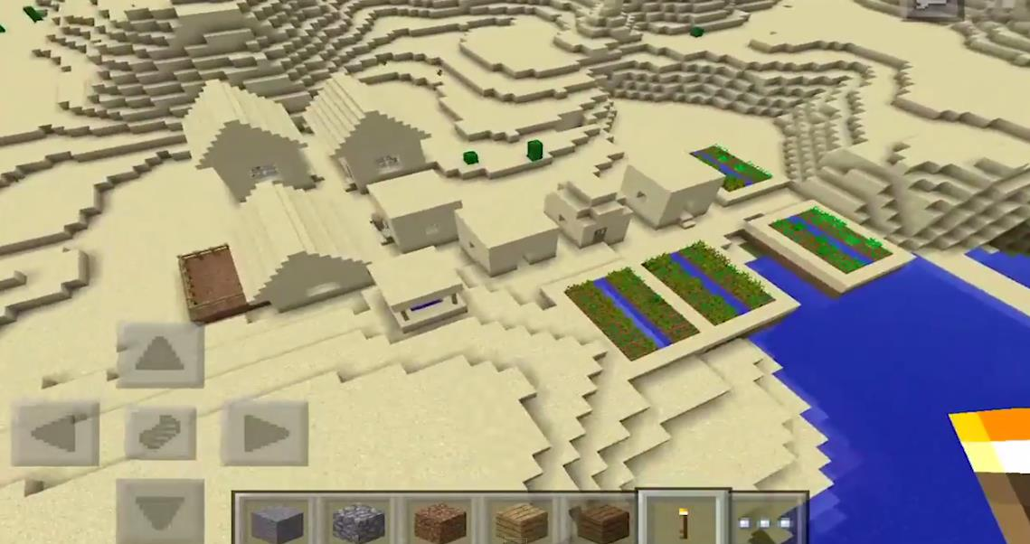 1411238030: Four Villages & A Dungeon | Minecraft PE Seeds