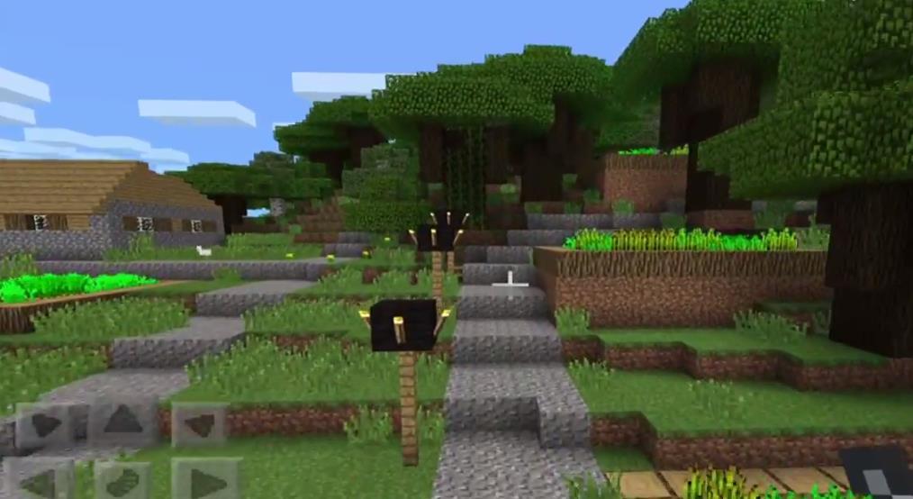 Meincraft A Roofed Forest Amp Village Minecraft Pe Seeds
