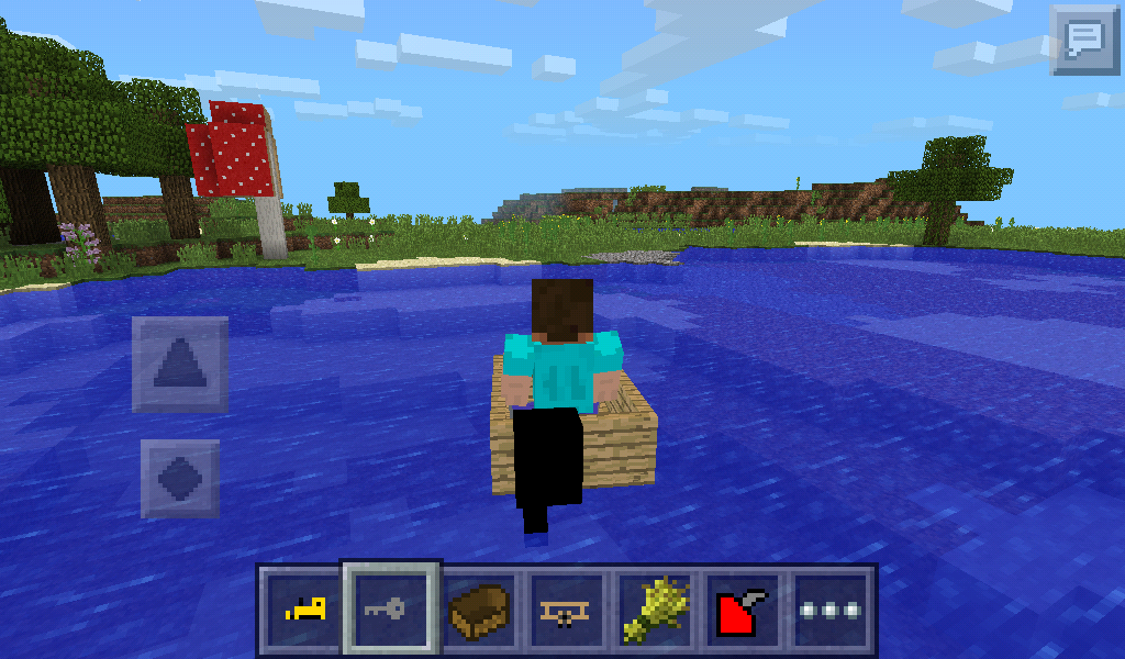 how to build a motor boat in minecraft pe