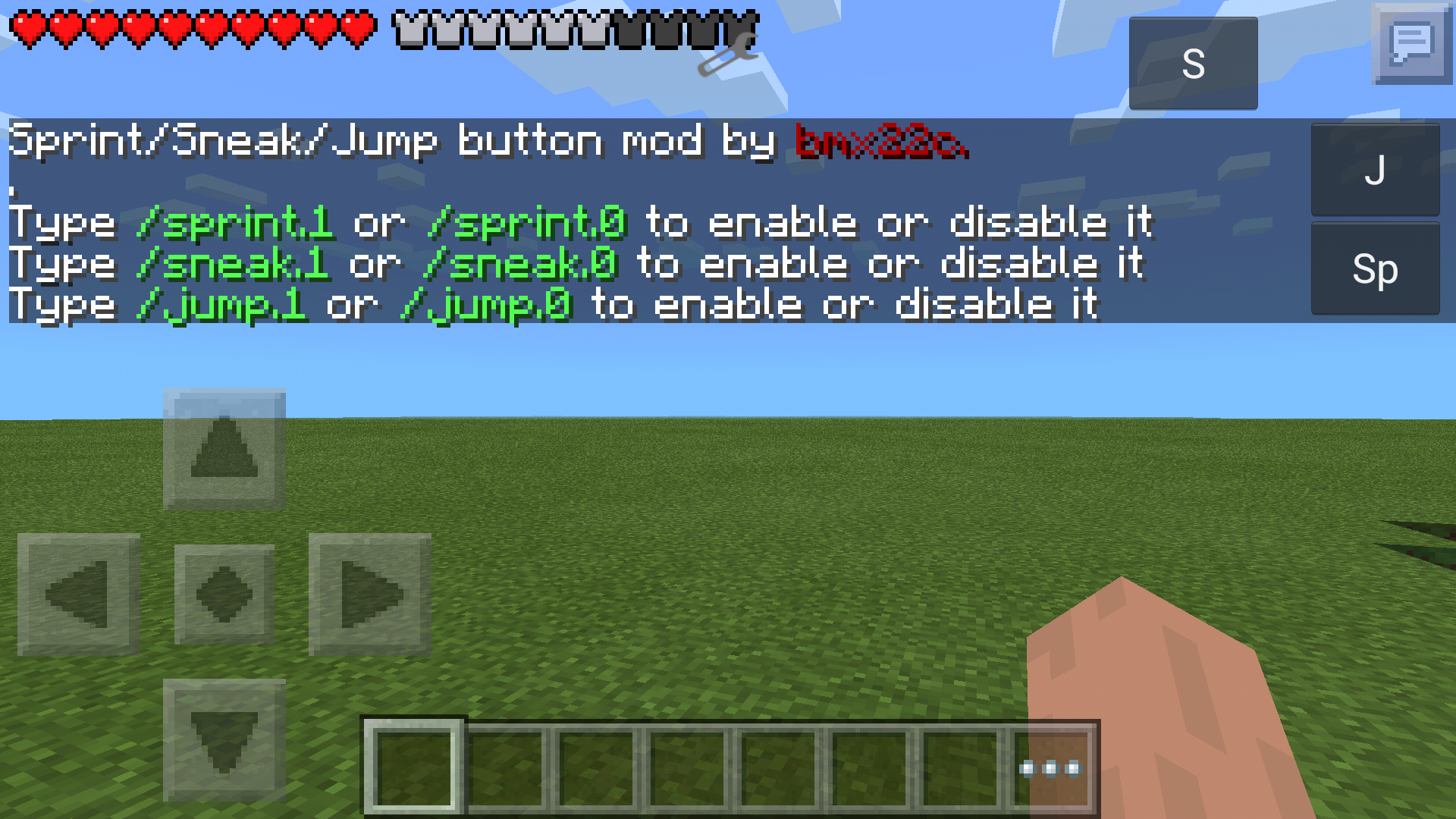 Jump, Sneak, Sprint Buttons Mod
