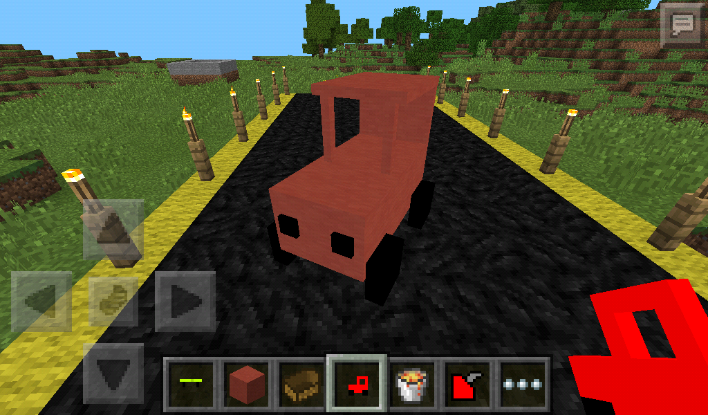 How to build a working car on minecraft pe