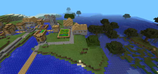 1413509231: A Village on an Island in a Swamp Biome