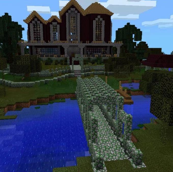 minecraft pe mansion maps