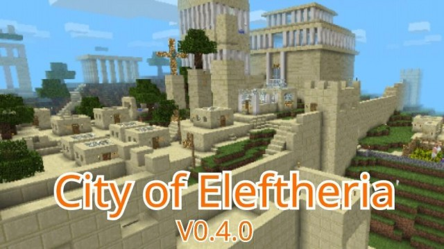 Greek Architecture Minecraft city of eleftheria [creation] | minecraft pe maps