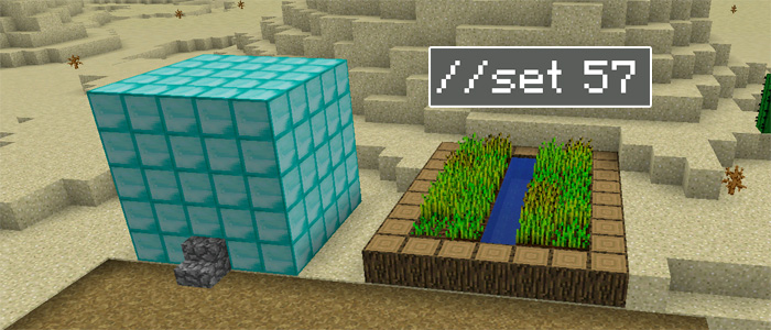 Worldedit pe android minecraft pe mods addons in this case i wanted to set all of the blocks in that region to diamond blocks sciox Image collections