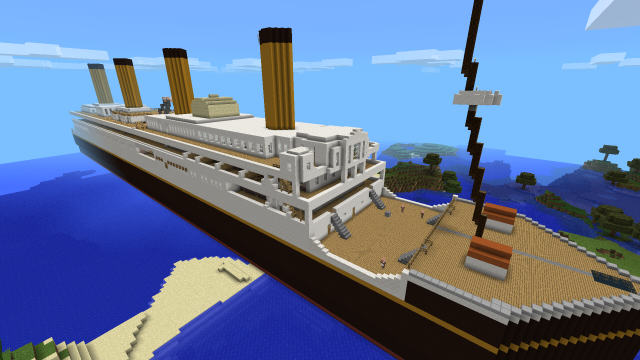 Карта майнкрафт - Огромный корабль - Лайнер! - YouTube