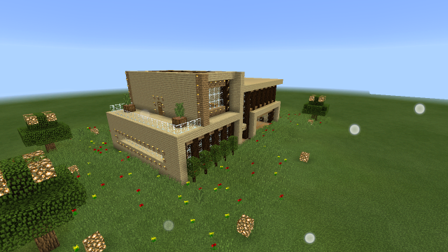 Modern wooden house creation minecraft pe maps for Modern house minecraft pe