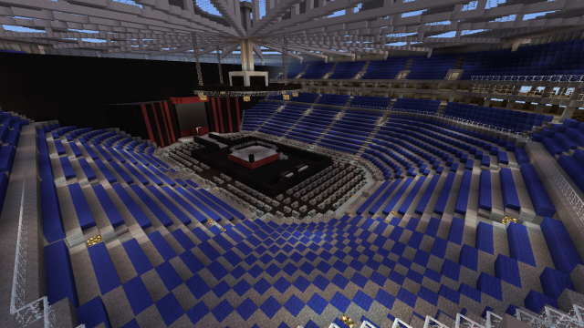 WWE RAW Arena Creation Minecraft PE Maps - Skin para minecraft pe wwe