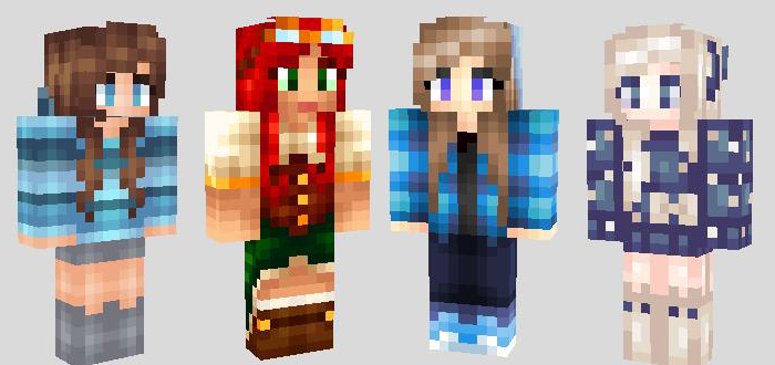 Cool Girls Archive - Skin para minecraft pe kawaii