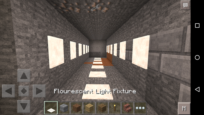 Minecraft Wall Light Mod : Fluorescent Light Fixtures Minecraft PE Mods & Addons