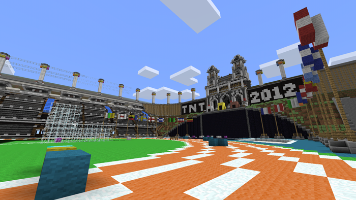 Minecraft map showcase #1 sethbling's tnt olympics with download.