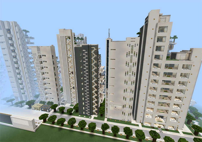 nxus city modern architecture series 19 buildings creation