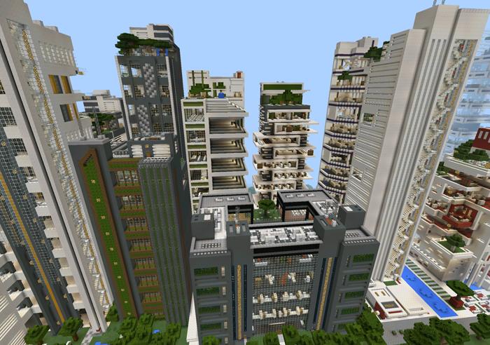Modern Architecture Minecraft nxus city – modern architecture series (19 buildings!) [creation