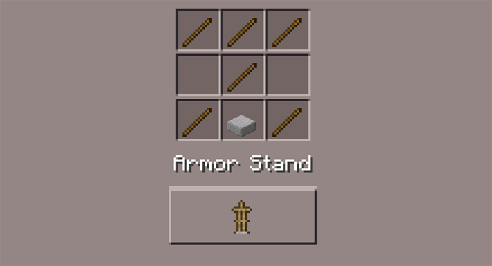 minecraft how to make armour stand