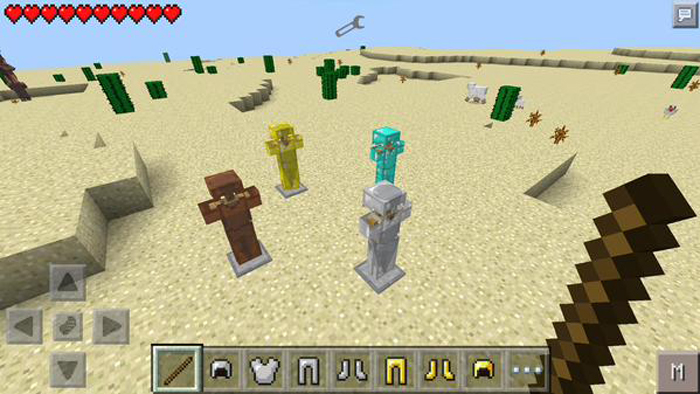 how to make a armor stand in minecraft pe