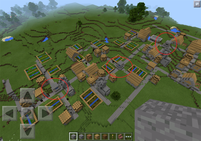 mamamoose triple village minecraft pe seeds
