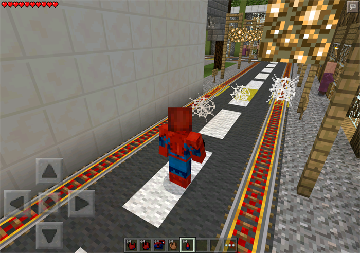 SpiderMan Mod Minecraft PE Mods Addons - Skins para minecraft pe de spiderman