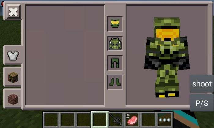 Crafting Armor Minecraft Pe