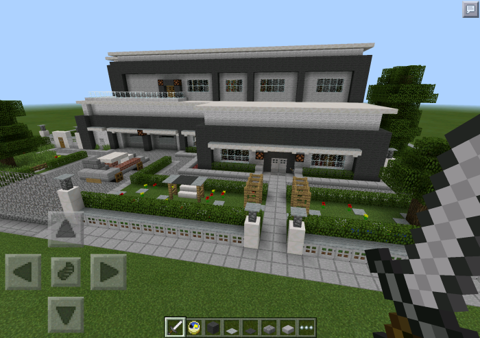 Redstone powered modern house creation redstone for Modern house minecraft pe