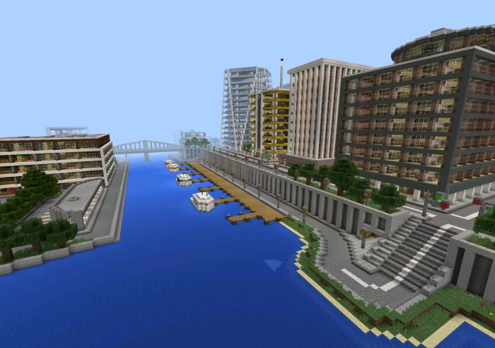 Tazader City Creation Minecraft PE Maps - Minecraft maps fur android