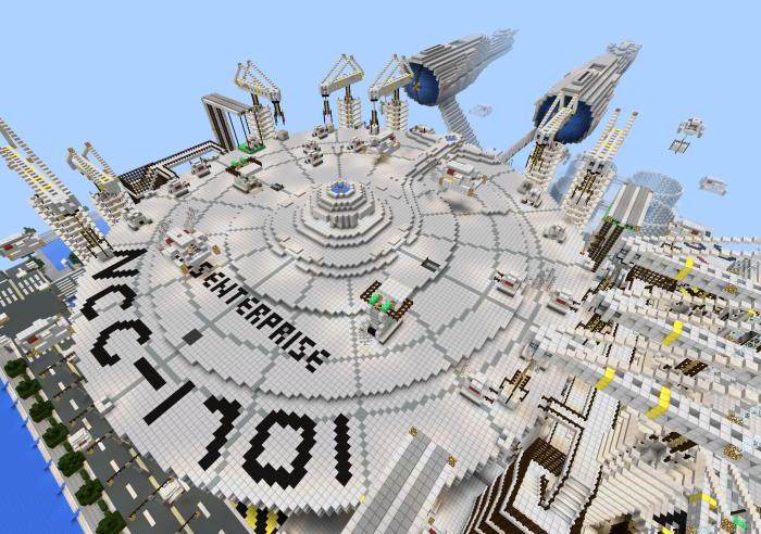 minecraft uss enterprise map download