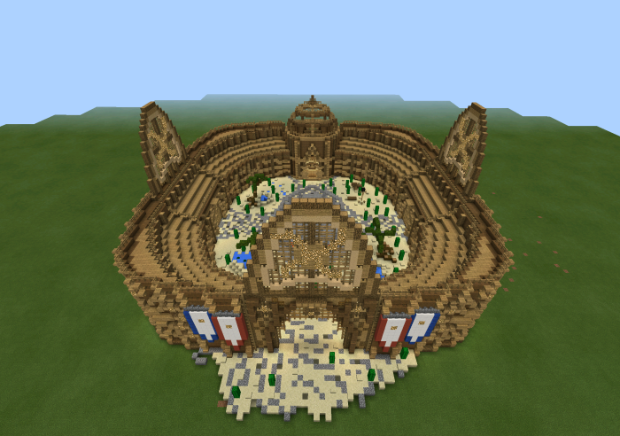 How To Build The Colosseum In Minecraft Pe