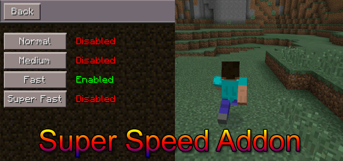 how to get super speed in minecraft pe