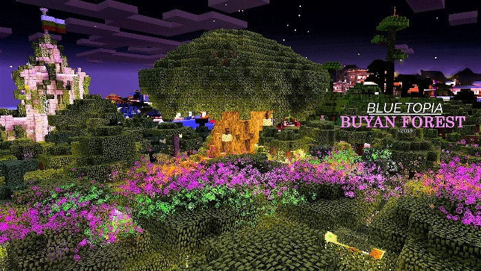 Карта Blue Topia для Minecraft PE