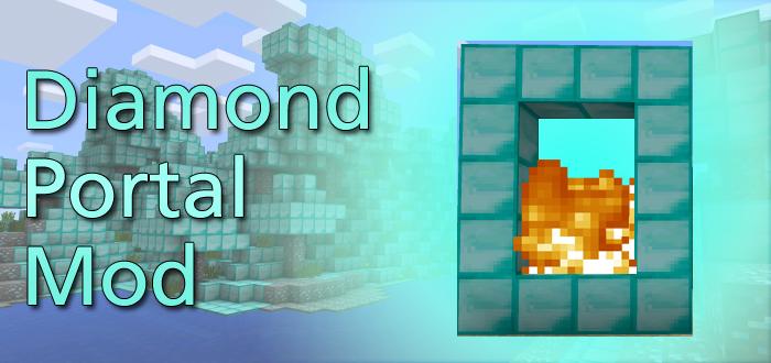 Diamond Portal Mod Minecraft PE Mods Addons - Minecraft xbox 360 server erstellen