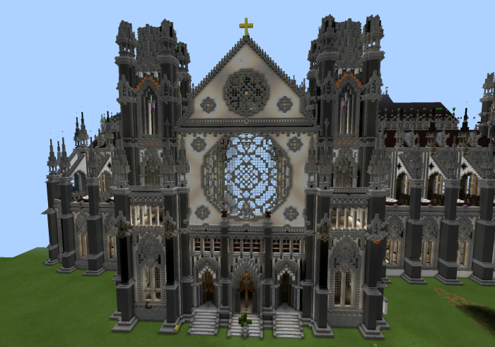 Big Cathedral Creation Minecraft PE Maps