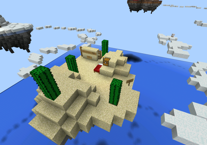 how to build a sky island in minecraft pe